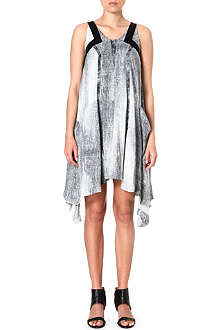 KAREN MILLEN Denim print fluid dress