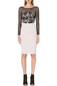 KAREN MILLEN Long sleeve camouflage lace dress
