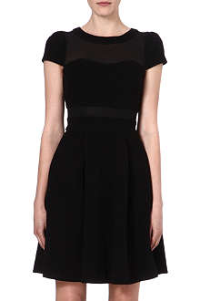 KAREN MILLEN Sheer-panel dress
