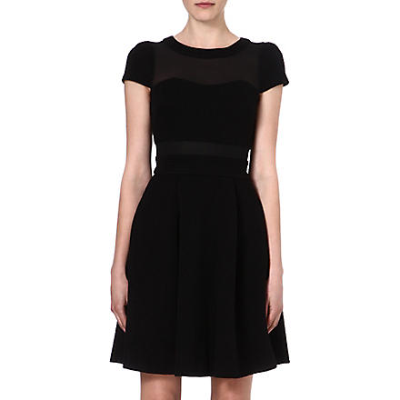 KAREN MILLEN Sheer-panel dress (Black