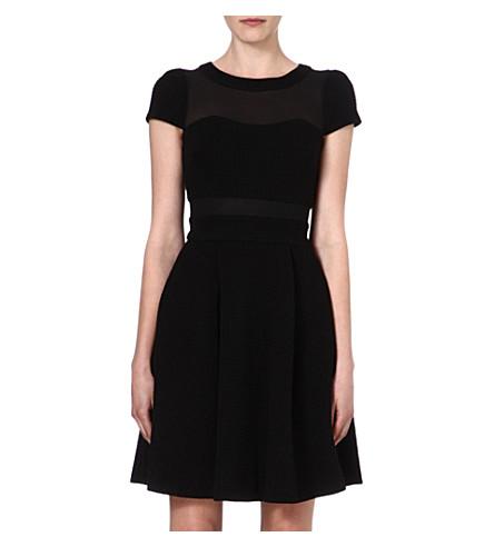 KAREN MILLEN Sheer-panel dress (Black