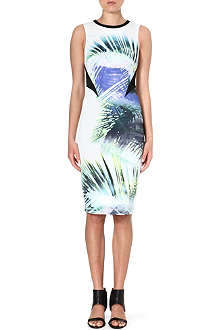 KAREN MILLEN Tropical print shift dress