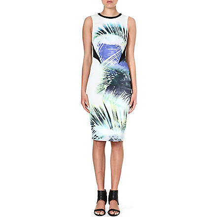 KAREN MILLEN Tropical print shift dress (Multicolour