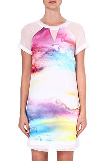 KAREN MILLEN Sunset print t-shirt dress