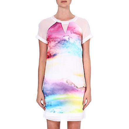 KAREN MILLEN Sunset print t-shirt dress (Multicolour