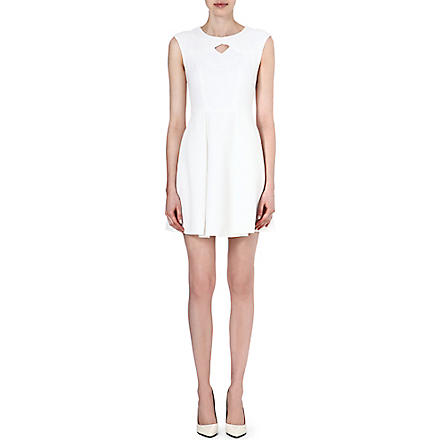 KAREN MILLEN Jacquard A-line dress (White