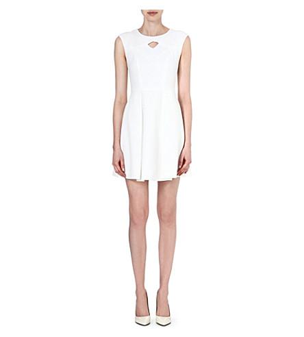 KAREN MILLEN Jacquard A-line dress (White