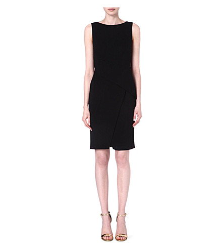 KAREN MILLEN Draped jersey dress (Black