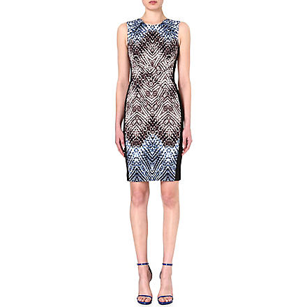 KAREN MILLEN Tribal print shift dress (Blue/multi