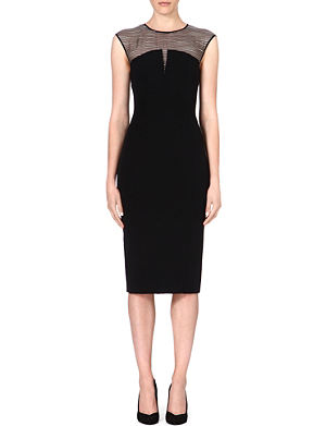 KAREN MILLEN Silk panelled shift dress