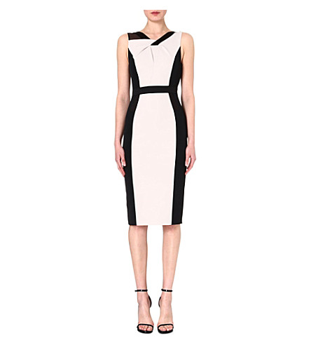 KAREN MILLEN Colour-block shift dress (Neutral