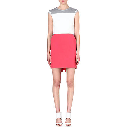 KAREN MILLEN Sporty colour-block dress (Pink/multi