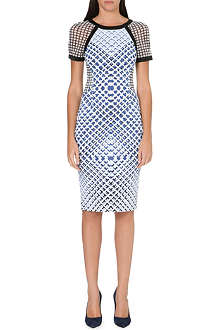 KAREN MILLEN Check-print dress
