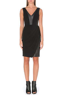 KAREN MILLEN Mixed jersey dress