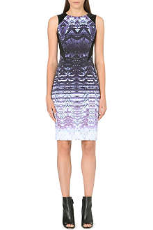KAREN MILLEN Ombre optical print dress