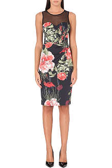 KAREN MILLEN Rose-print dress