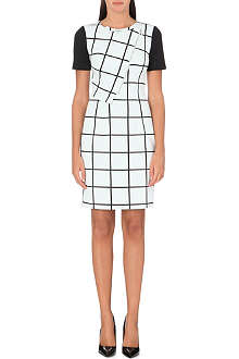 KAREN MILLEN Graphic check dress