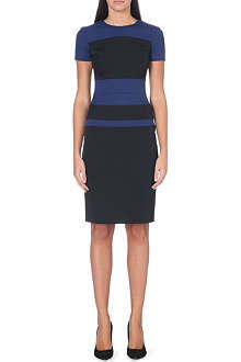KAREN MILLEN Colour-block panel dress