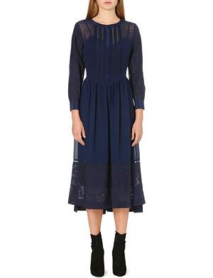 KAREN MILLEN Feminine soft midi dress