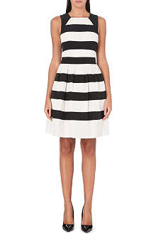 KAREN MILLEN Lace stripe dress