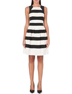 KAREN MILLEN Lace stripe dress