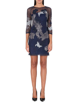 KAREN MILLEN Embroidered tulle dress