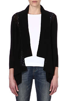 KAREN MILLEN Perforated knitted cardigan