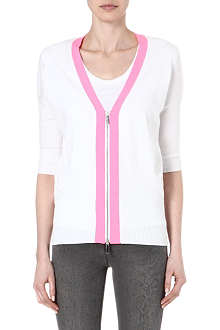 KAREN MILLEN Cardigan with neon trim