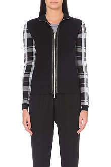 KAREN MILLEN Check and plain cardigan