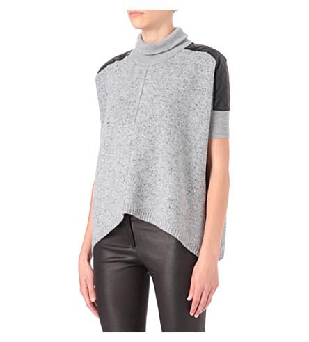 KAREN MILLEN Chunky tweedy knit jumper (Grey
