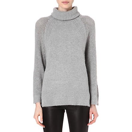 KAREN MILLEN Oversized turtleneck jumper (Grey