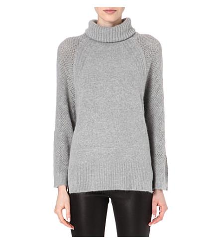 KAREN MILLEN Oversized turtleneck jumper (Grey