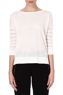 KAREN MILLEN Gauge-knit jumper