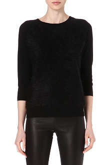 KAREN MILLEN Faux fur panel jumper