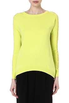 KAREN MILLEN Lace panel jumper