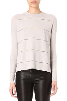 KAREN MILLEN Semi-sheer striped jumper