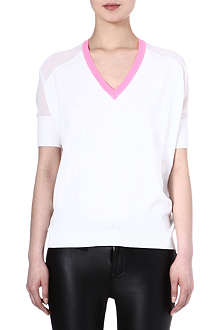 KAREN MILLEN Neon trim top