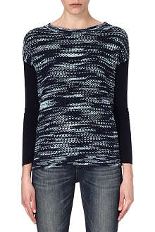 KAREN MILLEN Space-dyed knitted jumper