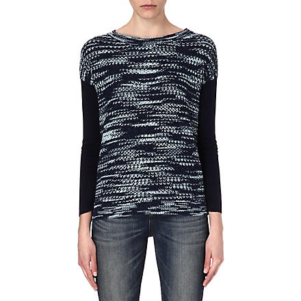 KAREN MILLEN Space-dyed knitted jumper (Blue/multi