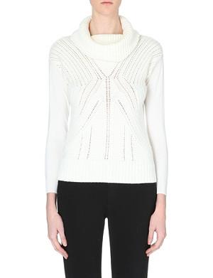 KAREN MILLEN Turtleneck wool jumper