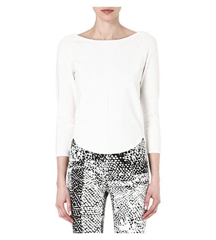 KAREN MILLEN Luxe sweatshirt knit jumper (Ivory
