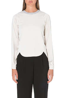 KAREN MILLEN Silk sleeve knit jumper