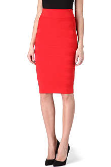 KAREN MILLEN Textured tube skirt