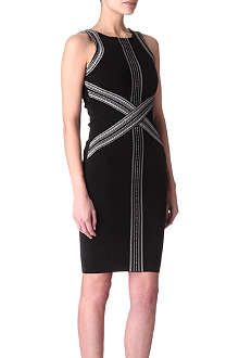KAREN MILLEN Tribal bandage dress