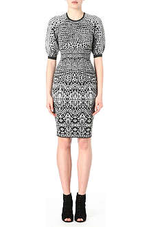 KAREN MILLEN Rounded shoulder knitted dress