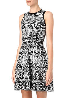KAREN MILLEN Knitted jacquard dress