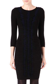 KAREN MILLEN Pleat and fold knitted dress