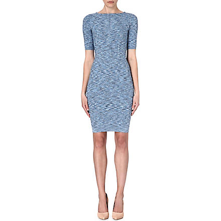 KAREN MILLEN Space dye bandage knit dress (Blue/multi