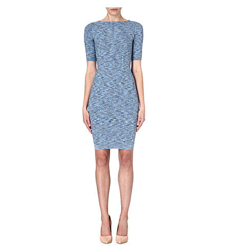 KAREN MILLEN Space dye bandage knit dress (Blue/multi