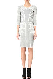 KAREN MILLEN Lace jacquard knitted dress